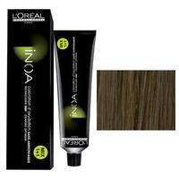 LOreal Professionnel Inoa - Краска для волос 8.3 Светлый блондин золотистый 60 гСредства для ухода за волосами<br>Технология ODS2 - усиленное покрытие седины до 100%. 6 недель интенсивного увлажнения +50% блеска.Краска Иноа не имеет запаха и не содержит аммиака, вследствие чего она не имеет неприятного запаха и не оказывает на волосы и кожу головы негативного раздражающего и разрушающего воздействия.L`oreal Professionnel Inoa мгновенно смешивается, быстро наносится, и обеспечивает во время окрашивания полный комфорт.Обеспечивает глубокий уход за волосами.Волосы после окрашивания остаются такими же гладкими и эластичными, как и до него.Питательные и защитные компоненты, которые входят в состав краски Inoa, обеспечивают превосходный уход.Восполняя в волосе недостаток аминокислот и липидов, краска Inoa гарантирует, что волосы после ее использования будут выглядеть толще и здоровее.Краска Inoa обеспечивает волосам бесконечно долгий цвет.Вы получаете точные прогнозированные оттенки.Краска позволяет окрашивать и осветлять волосы до 3-х тонов, совершенно не портя их.Объем: 60 мл<br>