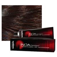 LOreal Professionnel INOA ODS2 Carmilane - Краска для волос безаммиачная 4.62 шатен фиолетово-перламутровый 60 млСредства для ухода за волосами<br>Inoa Carmilane- высокая интенсивность. Непревзойденная стойкость.Пигмент идентичен натуральному пигменту волосаУсовершенствованная формула INOA наделяет любой вид окрашивания комфортом, отсутствием негативных последствий в виде поврежденных волосяных стержней, раздражения или аллергических реакций кожи головы. Входящие в состав средства активные компоненты интенсивно увлажняют, питают и защищают волосы, обеспечивая им длительный бережный уход. В результате использования безаммиачной краски нового поколения волосы обретают естественный здоровый блеск, пластичность, гладкость и шелковистость. В числе достоинств нового средства стоит отметить способность полного закрашивания седины при любых объемных ее долях в основной массе волос. Даже при условии различия цвета по длине волос – от корней до кончиков – удается достичь безупречного эффекта в виде однородного, ровного и идеального покрытия желаемого цвета.Средство не содержит традиционных для краски химических компонентов и потому не обладает резким запахом, не служит источником раздражения, зуда или аллергии кожи головы. Наличие в составе краски ингредиента Олео-Гель обеспечивает бережное и стойкое покрытие.Способ применения:Наносите на сухие или влажные волосы, смешивая в пропорции 1:1 соксидентом INOA ODS2.Объем:60 мл<br>