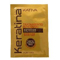 Kativa Keratina Tratamento Intensivo - Интенсивно восстанавливающий уход с кератином для поврежденных и хрупких волос 35 г