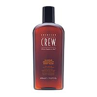 American Crew 24-Hour Deodorant Body Wash - Гель для душа дезодорирующий  450 млМужские средства для душа<br>AmericanCrew24-HourDeodorantBodyWashГель для душа дезодорирующий– специально создан для тех, кто постоянно ведёт активный образ жизни и нуждается в ежедневном и тщательном уходе за кожей тела. Продукт компании Американ Крю позволяет ощущать бодрость, свежесть и уверенность в себе на всём протяжении дня, наделяет кожу здоровьем и приятным оттенком. В состав данного средства входит цитрат серебра, благодаря которому устраняются не только запах пота, вызванный микроорганизмами, но и нежелательные бактерии и патогенные организмы, присутствующие на коже тела. Дезодорирующий гель для душа Американ Крю 24-Hour Body Wash освежает и успокаивает кожу, обеспечивая комфорт и хорошее настроение на все 24 часа.Состав:масло перечной мяты, масло листьев чайного дерева, цитрат серебра, натуральные природные компоненты. Рекомендации по применению:дезодорирующий гель для душа American Crew Body Wash следует в небольшом количестве нанести на влажную кожу, вспенить массажными движениями, после чего смыть большим количеством тёплой воды. Объём: 450 мл<br>