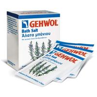 Gehwol Classic Product  Bath Salt - Соль для ванны с розмарином 10*25 грСредства для ухода за ногами<br>Соль для ванны с розмарином Геволь (Gehwol Bath Salt) производит мягкую, но в основательную очистку, стимулирует кровообращение кожи, оживляет ее и укрепляет. Снимающие боль компоненты глубоко проникают сквозь поры кожи и предотвращают повышенное потоотделение и появление запаха от ног.Соль для ванны Геволь подходит как для ванночек для ног, так и для принятия полных ванн для всего тела. Регулярное принятие таких ванн защищает ноги от грибковых инфекций. Ванна обладает нежным ароматом розмарина. Подводный массаж с помощью щетки усиливает от принятия ванны эффект.Назначение:Стимулирует и активизирует кровообращение.Предотвращает чрезмерное потоотделение.Обладает дезодорирующим эффектом.Регулярное применение ванны защищает от грибковых инфекций.Активные компоненты: розмариновое масло, триклозан.Применение: Подходит как для ванны для ног, так и для общей ванны тела. Для ванны ног один порционный пакет растворить в 4 л теплой воды и купать ноги в течение 15-20 минут. Для общей ванны растворить 3 порционных пакета в теплой ванне. Массаж в воде усилит действие средства.Объем: 10*250 гр<br>