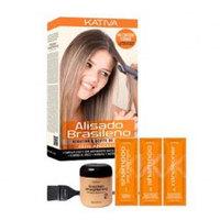 Kativa Keratina Alisado Brasileno - Набор для кератинового выпрямления и восстановления волос с маслом арганы