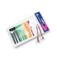 Dewal CL2403 - Зажим для волос цветной, пластик+ металл, 8 см, 12 шт/уп