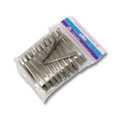 Dewal CL2405 - Зажим для волос металл, 6,5 см 36 шт/уп