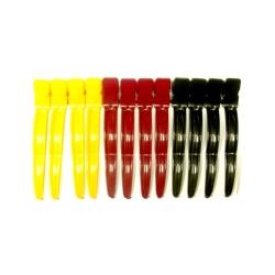 """Dewal CL2419 - Зажим для волос """"Волна"""" цветной, пластик, 8 см 12 шт/уп"""