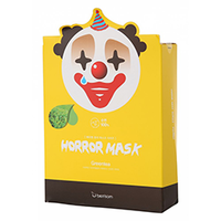 Berrisom Horror Mask Series Pierrot - Маска тканевая с экстрактом зеленого чая 25 мл