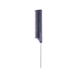 """Dewal CO-6105 - Расческа рабочая """"Эконом"""" с металлическим хвостиком, черная 20,5 см"""