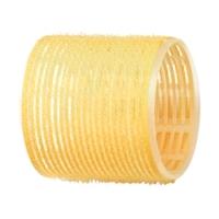 Dewal R-VTR17 - Бигуди-липучки желтые d 65 мм (6шт.)