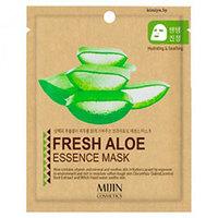 Mijin Cosmetics Essence Mask Fresh Aloe - Маска для лица тканевая алое 25 г
