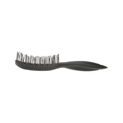 Dewal BR69539 black - Щетка для укладки вогнутая, пластиковый штифт, 9 рядов