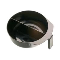 Dewal T-1207 - Чаша для краски, черная, с ручкой и перегородкой, с резинкой на дне 2х375 мл
