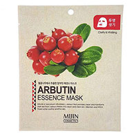 Mijin Cosmetics Essence Mask Arbutin - Маска для лица тканевая арбутин 25 г