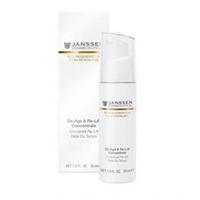 Janssen Opus Belle Anti-Age De-Age &amp; Re-Lift Concentrate - Anti-Age экстралифтинг концентрат 30 млСредства для ухода за лицом<br>Высокоэффективный anti-age концентрат, содержащий изофлавоны, с легкой текстурой геля и активным дей-ствием крема. Активизирует синтез волоконколлагена и эластина и защищает структуру дермы. Препятствует возрастной атрофии, повышает эластичность, упругость, плотность кожи, регулирует ее гидробаланс. Обеспечивает видимый лифтинг-эффект, придает коже сияние и свежесть.Применение: Наносите De-Age &amp; Re-Lift Concentrate на очищенную кожу лица и области декольте утром и/или вечером. Затем нанесите подходящий крем.В салоне использовать как активное омолаживающее средство перед нанесением масок или массажем.Активные компоненты: Гиалуроновая кислота, изофлавоноиды ириса, комбуча (ферментированный черный чай), структурин (гидролизат белков люпина), масло макадамии, витамины С и Е.Объем: 30 мл<br>