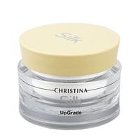 Christina Silk Upgrade Cream - Увлажняющий крем 50 млКрема для лица<br>Крем увлажняющий с очень нежной текстурой Christina Silk Upgrade Creamдень за днем возвращает упругость и силы, разглаживает морщины и защищает кожу от вредного воздействия УФ-лучей благодаря входящим в состав крема антиоксидантам и липидам тутового шелкопряда.Кроме того, в составе этого продукта от компании Кристина есть масло ши, успокаивающее и снимающее раздражения, и экстракт календулы, восстанавливающий и заживляющий кожу.Регулярно используя увлажняющий крем от Christina, Вы сделаете кожу сияющей и здоровой.Применение:Наносите крем от компании Кристина тонким слоем на кожу лица. Избегайте области вокруг глаз.Объём:50 мл<br>