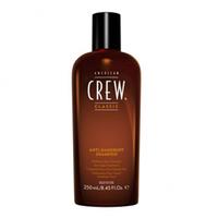 American Crew Anti-Dandruff Shampoo-Шампунь против перхоти  250млШампуни мужские<br>AmericanCrewAnti-DandruffShampooШампунь против перхоти– обеспечивает прекрасный уход за сухой кожей головы. Данный шампунь от компании Американ Крю подходит как для нормальных, так и для сухих, ломких и повреждённых волос с перхотью. Благодаря шампуню American Crew волосы приобретают эластичность, мягкость и здоровый вид и блеск, а такой активный ингредиент, входящий в состав средства, как цинк, отлично препятствует шелушению и зуду кожи головы, в результате чего устраняется проблема перхоти. Шампунь Американ Crew Anti-Dandruff восстанавливает и укрепляет волосы, охлаждает и освежает кожу головы, подходит для частого применения.American Crew Anti-Dandruff Shampoo – отличное и надёжное средство для избавления от перхоти.  Состав:ментол, масло мяты кучерявой, лимонная кислота, цинк пиритион 0,5%. Рекомендации по применению:небольшое количество шампуня Американ Крю Anti-Dandruff необходимо нанести на увлажнённые волосы, далее помассировать волосы в течении 1-2 минут, после чего смыть большим количеством тёплой воды. При необходимости процедуру можно повторить. Данное средство рекомендуется использовать минимум 2 раза в неделю, при этом возможно чередование с привычным шампунем.Объём: 250 мл<br>