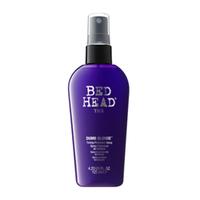 TIGI Bed Head Dumb Blonde Toning Protection Spray - Защитный спрей для блондинок 125 млСредства для защиты волос<br>Фокус на волосах! Коктейль из восстанавливающих и ухаживающих компонентов восстанавливает структуру волос,делая их более послушными.Усиливает холодные тона,придавая ослепительный блеск,а также обеспечивает надежную защиту от термовоздействия и УФ-лучей.Применение:Хорошо встряхните.Распылите спрей на влажные волосы,не смывайте.Для максимальной защиты цвета используйте вместе с линейкой Bed Head Colour Care.Объем: 125 мл<br>