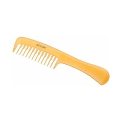 Dewal CO-6807-SO - Расческа рабочая Prosun с ручкой, антистатик, желтый 20 см