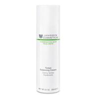Janssen Combination Skin Tinted Balancing Cream - Балансирующий крем с тонирующим эффектом 100 млКрема для лица<br>Крем для гармонизации состояния комбинированной кожи с легким тонирующим эффектом. Нормализует активность сальных желез, улучшает состояние пор и матирует жирный блеск. Увлажняет и смягчает кожу, разглаживает морщинки, вызванные сухостью. Сложные углеводы, входящие в состав формулы, обладают уникальной способностью понижать количество липидов на жирных участках кожи и повышать его на сухих.Применение:Ежедневно утром наносите на предварительно очищенную кожу. Совет: Благодаря низкому содержанию липидов подходит для ухода за жирной кожей.Активные компоненты:Инозитол, экстракт алоэ вера, экстракт красных водорослей (Chondrus crispus), сложные углеводы из рисовых отрубей, матирующие микрочастицы (полиамидная пудра), тонирующие пигменты, глюкоза, витамины C и E.Объем:200 мл<br>