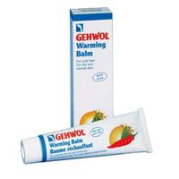 Gehwol Classic Product  Warming Balm - Согревающий бальзам 75 млСредства для ухода за ногами<br>Согревающий бальзам Геволь (Gehwol Warming Balm) - бальзам для всех, кто страдает от эффекта холодных ног и нарушения кровообращения в них. Он ускоряет циркуляцию крови в венах и сосудах, принося таким образом, ощущение приятного тепла.Стручковый перец, имбирь, водоросли, камфара, розмарин в составе крема - специально для усиления тока крови. Масло авокадо, пчелиный воск, алое вера, карбамид и ланолин - для увлажнения сухой кожи. Кожа после регулярного применения бальзама становится гладкой и шелковистой, исчезает ощущение тяжести в ногах.Назначение:Профилактика простуды,Избавление от эффекта «холодных ног»,Эффективно смягчает кожу ног,При регулярном применении предотвращает грибковые заболевания,Обладает дезодорирующим действием.Активные компоненты: стручковый перец, имбирь, водоросли, камфара, розмарин.Применение: Наносится вечером на чистую и сухую кожу или перед выходом на улицу. Наилучший эффект при применении вместе с «Согревающей ванной» или ванной с «Солью розмарина».Объем: 75 мл<br>