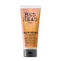 TIGI Bed Head Colour Goddess Oil Infused Conditioner - Кондиционер для окрашенных волос 200 млКондиционеры для волос<br>Формула с провитамином B5, кератином и витамином E ухаживает за окрашенными волосами и придает новый заряд Вашему цвету волос. Питательная формула, содержащая масло ши, витамин Е и кератин, глубоко проникает в структуру волос, восстанавливая их. Масло сладкого миндаля обеспечивает надежную защиту цвета окрашенных волос.Состав:масло сладкого миндаля- быстро впитывается, разглаживает и смягчает волосы.Витамин Е- питательная и антиокислительная функции.Молочная кислота- нормализует рН волос, разглаживает кутикулу.Диметикон и амодиметикон- усиливают блеск и яркость окрашенных волос.<br>Способ применения:После применения шампуня равномерно распределите кондиционер-маску на влажные волосы, тщательно смойте. Избегайте попадания в глаза. При попадании в глаза тщательно промойте их водой.<br>Объем:200 мл<br>