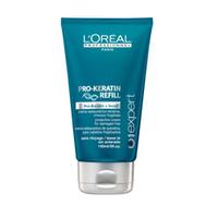 LOreal Professionnel Expert Pro-Keratin Refill Protective Cream - Защитный крем для поврежденных волос 150 млСредства для защиты волос<br>Несмываемый крем Pro-Keratin Refill рекомендованно использовать зимой, когда волосы постоянно подвергаются негативному воздействию погодных и других негативных внешних условий.Глубоко проникает вглубь волоса и пополняет его поврежденную структуру.Обладает интенсивными питательными, лечебными свойствами и термозащитными свойствами.Увлажняет и поддерживает необходимый гидробаланс внутри волоса.Несмываемый крем устраняет сухость и сечение кончиков волос.Придает волосам потрясающий блеск, гладкость и шелковистость.Покрывая волосы микро-пленочкой, защищает их от всевозможных повреждений и внешних агрессоров.Благодаря этому средству волосы становятся блестящими, прочными и шелковистыми.Активные компоненты: Pro-кератин, молекулы Incell, протеины пшеницы, аргинин, фруктовые экстракты.Применение: Равномерно распределить на чистых, влажных волосах, особое внимание уделить кончикам, интенсивно втирая крем. Затем уложить волосы обычным для вас способом. Для закрепления эффекта рекомендуется использовать с шампунем и маской серии Pro-Keratin Refill.Объём: 150 мл<br>