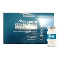 LOreal Professionnel Expert Pro-Keratin Refill Power Kera-Recharge - Концентрированная корректирующая монодоза-уход для поврежденных волос 30*10 млСредства для лечения волос<br>Концентрированная корректирующая монодоза с креатином Pro-Keratin Refill. Средство предназначено для разглаживания сильно поврежденных волос или особенно чувствительных зон, требующих дополнительного ухода волос и интенсивно питает ослабленные, поврежденные и ломкие волосы, увеличивает объем и дает плотность тонким волосам. Защищает волосы от воздействия УФ-излучения, вредных влияний внешней среды.Активные компоненты: Pro-кератин, молекулы Incell, протеины пшеницы, аргинин, фруктовые экстракты.Применение: Тщательно распределить по влажным волосам, оставить на несколько минут, тщательно смыть. Применять 1-2 раза в неделю. Также монодоза-ухода Лореаль Pro-Keratin Refill может использоваться в процессе проведения процедуры ламинирования с красителем Dialight.Объём: 30*10 мл<br>