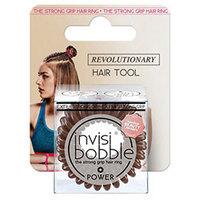 Invisibobble Power Pretzel Brown - Резинка для волос в упаковке с подвесом (коричневый) 3 шт
