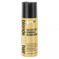 Sexy Hair Blonde Sulfate-Free Bombshell Blonde Shampoo - Шампунь для сохранения цвета без сульфатов 50 млШампуни для волос<br>Роскошный Шампунь для ежедневного ухода для осветленных, мелированных и седых волос. Специально разработанная технология Perfect-Balance Technology с экстрактом ромашки, меда и киноа поддерживает яркость и блеск цвета, укрепляет и увлажняет волосы, защищает от повреждений и выгорания. Стимулирует рост волос. Без сульфатов, глютена, парабенов, солей.<br>ПРИМЕНЕНИЕ:Используйте для ежедневного ухода, как альтернатива оттеночному шампуню Сияющий Блонд без сульфатов.<br>