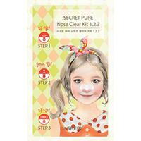 The Saem Secret Pure Nose Clear Kit 1•2•3 - Пластырь для удаления черных точек 6 г