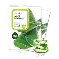 Seantree Aloe 100 Mask Sheet - Маска для лица тканевая с алоэ 20 мл