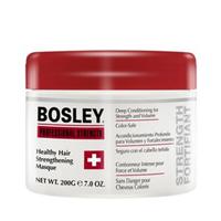 Bosley Healthy Hair Strengthening Masque - Маска оздоравливающая укрепляющая 200 млМаски для волос<br>Маска укрепляющая Bosley увеличивает объем ломких, ослабленных и поврежденных волос. Входящие в её состав растительные белки и биотин оказывают укрепляющее действие. Экстракт жожоба и ромашка улучшают состояние волос.Комплекс LifeXtend™ обеспечивает волосам дополнительное укрепление, а ColorKeeper™ надолго сохраняет яркий цвет окрашенных волос.Средство подходит для следующих типов волос: химически обработанные, многократно осветленные, поврежденные под воздействием высоких температур, так называемые пушковые волосы (или миниатюризированные), а также истонченные.Объем: 200 мл<br>