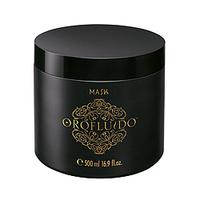 Orofluido Mask - Маска для волос  500 мл.Маски для волос<br>Маска Orofluido обеспечит увлажнение вашим локонам, восстановит поврежденные волосы, вдохнет в них новую жизнь и сделает здоровыми и шелковистыми. В состав маски входят натуральные масла. Масло арганы оказывает целебное воздействие на окрашенные, поврежденные и сухие волосы, снимает зуд и раздражение кожи головы, защищает волосы от горячего воздуха и солнца. Масло ситника придает прядям объем, смягчает волосы, делает их эластичными. Льняное масло обладает особым эффектом: оно моментально придает волосам блеск, насыщая их витамином Е, запечатывает кутикулу, делая волосы гладкими. В состав средства также входят катионные компоненты, благодаря которым волосы не электризуются и буквально сияют здоровьем.Применение: необходимое количество средства распределить равномерно по влажным волосам, оставить на несколько минут, смыть. Для достижения наилучшего результата маску следует применять 2-3 раза в неделю. Чтобы усилить восстанавливающий эффект, достаточно добавить в маску несколько капель эликсира Orofluido.Объём: 500 мл<br>