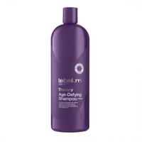 Label.M Therapy Age-Defying Shampoo - Шампунь Антивозрастная Терапия 1000млШампуни для волос<br>Шампунь Антивозрастная Терапия содержит Белую Икру, которая мягко очищает волосы, одновременно восстанавливает, укрепляет и омолаживает их. Помогает восстановить поврежденные волосы и обеспечивает интенсивное увлажнение слабым и тусклым волосам, придавая им силу, блеск и молодой вид. Не содержит сульфаты, парабены и хлорид натрия. Применение: Нанесите на мокрые волосы массажными движениями до образования густой пены.Объем: 1000 мл<br>
