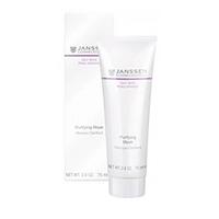 Janssen Oily Skin Purifying Mask - Себорегулирующая очищающая маска 75 млМаски для лица<br>Специальная маска на основе целебной глины для глубокого очищения жирной кожи и кожи с акне. Нормализует синтез себума, адсорбирует его избыток, не пересушивая при этом кожу, улучшает состояние пор. Обладает противовоспалительными свойствами и предотвращает возникновение акне. Кожа становится здоровой, матовой и выглядит идеально ухоженной.Применение:Наносите на очищенную кожу 1–2 раза в неделю, избегая области вокруг глаз. Оставьте на 20 минут, затем тщательно смойте теплой водой или снимите влажным компрессом. При необходимости возможно более частое локальное применение на проблемные области. Совет: Маска быстро высыхает. Ее будет легче снять, если сначала слегка поддеть ее влажными кончиками пальцев. Продукт идеально подходит для ухода за Т-зоной комбинированной кожи.В салоне применять согласно регламенту процедуры.Активные компоненты:Себорегулирующий комплекс (олеанолевая и нордигидрогваяретовая кислота), каолин, экстракт алоэ вера, экстракт грибов Fomes officinalis, бисаболол, лецитин, витамины C и E.Объем:75 мл<br>