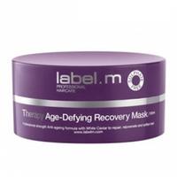 Label.M Therapy Age-Defying Recovery Mask - Маска Восстанавливающая Антивозрастная Терапия 120 млМаски для волос<br>Интенсивная восстанавливающая маска в виде концентрированного крема регенерирует, укрепляет и омолаживает волосы. Создана для быстрой регенерации и преобразования волос. Не содержит сульфаты, парабены и хлорид натрия.Применение: Нанесите маску от корней до самых кончиков. Оставьте на 5 минут, затем тщательно промойте волосы тёплой водой. Для лучшего результата используйте один-два раза в неделю как часть Анти- возрастной терапии.Объем: 120 мл<br>