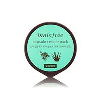 Innisfree Capsule Recipe Pack Bija & Aloe - Маска для лица капсульная (алое биджа) 10 мл
