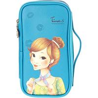 Fascy Pungseon Tina PU Beauty Pouch - Косметичка синяя