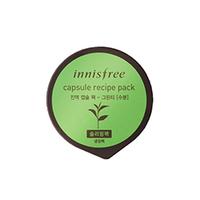 Innisfree Capsule Recipe Pack Greentea - Маска для лица капсульная (зеленый чай) 10 мл