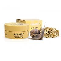 Ayoume Gold + Snail Eye Patch - Патчи для глаз омолаживающие с золотом и улиточным муцином 60*1,4 г