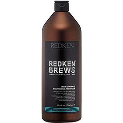 Redken Brews Mint Shampoo - Тонизирующий шампунь 1000 мл