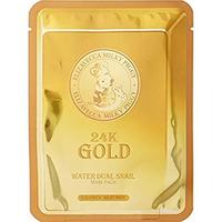 Elizavecca 24k Gold Water Dew Snail - Маска для лица улиточная 25 г