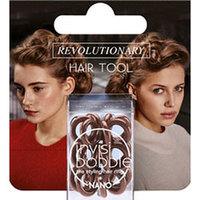 Invisibobble Nano Pretzel Brown - Резинка для волос в упаковке с подвесом (коричневый) 3 шт