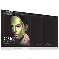 Double Dare OMG 3In1 Kit Platinum - Трехкомпонентный комплекс масок «увлажнение и себоконтроль», упаковка 5 шт