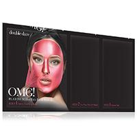 Double Dare OMG 3In1 Kit Platinum - Трехкомпонентный комплекс масок «сияние и ровный тон», упаковка 5 шт
