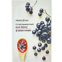 Innisfree My Real Squeeze Mask Asai Berry - Маска для лица тканевая (ягода асаи) 20 мл