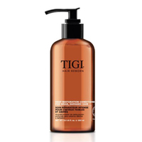 TIGI Hair Reborn Deep Restoration Conditioner - Кондиционер глубокого восстановления для ослабленных и поврежденных волос 1000 млКондиционеры для волос<br>Профессиональный кондиционер Tigi возродит даже очень поврежденные волосы, вернув им красоту и природное сияние. Проникая вглубь волоса, Tigi Hair Reborn Deep Restoration Conditioner восстанавливает его структуру и выравнивает поверхность. Tigi Hair Restoration Conditioner восстанавливает водный баланс, устраняя сухость, ломкость и сечение кончиков. Придает блеск, зеркальную гладкость и шелковистость.Благодаря Tigi Hair Reborn Deep Restoration Conditioner, волосы обретают оживленный, здоровый вид. Восстанавливающий кондиционер для волос Tigi обладает приятным ароматом Черной орхидеи.Применение:Нанести на влажные, предварительно вымытые волосы. Помассировать и через 2 минуты смыть водой.Объём:1000 мл<br>