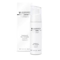 Janssen Demanding Skin Vitaforce C Cream - Регенерирующий крем с витамином С 50 млКрема для лица<br>Предотвращает преждевременное разрушение коллагеновых волокон и старение кожи, стимулирует клеточную регенерацию, производство коллагена и эластина. Витамин С проявляет антиоксидантные свойства, нормализуя состояние кожи, укрепляя ее защитные характеристики. Благодаря наличию гиалуроновой кислоты восстанавливается тургор кожи, поддерживается максимальная степень увлажнения, разглаживаются мелкие морщины.Применение: Используйте курсом утром и / или вечером. Распределите небольшое количество продукта (2-3 нажатия) на чистой коже лица до полного впитывания, затем нанесите подходящий дневной или ночной крем.В салоне применяется согласно регламенту процедур как активное средство(под массажный крем, под коллагеновую и пластифицирующую маски), а также на финале ухода.Активные компоненты: Витамин С и гиалуроновая кислота.Объем:50 мл<br>