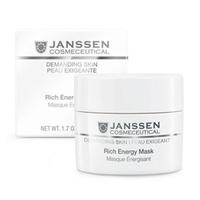 Janssen Demanding Skin Rich Energy Mask - Энергонасыщающая регенерирующая маска 50 млМаски для лица<br>Роскошная питающая, насыщающая энергией маска для кожи с признаками стресса и усталости, возрастной и/или сухой кожи. Улучшает цвет, восстанавливает, питает и оздоравливает кожу, способствует ее регенерации.Применение: Нанесите Rich Energy Mask на чистую кожу. Оставьте на 20 минут. Удалите теплыми влажными компрессами.В салоне применять согласно регламенту процедуры.Активные компоненты: Масло авокадо, подсолнечника, масло ши, сквалан, пантенол, витамины А (0,1%) и Е (3%), увлажняющий комплекс.Объем: 50 мл<br>