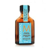 Moroccanoil Treatment for all hair types - Масло восстанавливающее для всех типов волос 25 млМасла для волос<br>Масло Moroccanoil является уникальным средством, в его составе аргановое масло, которое моментально впитывается волосами и создает ослепительный блеск и идеальную шелковистость волос всех типов.Специально предназначенное для восстановления и кондиционирования волос, это средство укрепляет волосы, облегчает расчесывание и делает волосы более послушными, таким образом сокращая время, необходимое для сушки и укладки. Небольшое количество Moroccanoil моментально восстанавливает, оздоравливает и освежает волосы.После первого же применения волосы приобретают заметно более блестящий и здоровый вид. При длительном применении состояние волос продолжает улучшаться, волосы перестают сечься и становятся менее хрупкими и ломкими.Применение:Для интенсивного восстановления: Нанесите небольшое количество масла на чистые влажные волосы, затем оберните волосы теплым полотенцем и оставьте на время (чем дольше масло находится на волосах тем сильнее эффект), затем промойте волосы проточной водой. Эффект виден после первого применения.Для окрашенных волос: Масло может использоваться непосредственно на волосах перед окраской. Moroccanoil также можно смешивать с краской для ровного и мягкого нанесения, а так же, как кондиционер после того, как весь процесс окрашивания был завершен. Волосы становятся послушнее, цвет насыщенней, дольше держится на волосах, не вымывается, не тускнеет. Хорошо подходит для блондирования.Для ежедневного ухода: Moroccanoil можно наносить на сухие волосы и не смывать для ежедневного питающего ухода и защиты от агрессивного воздействия окружающей среды.Объём: 25 мл<br>