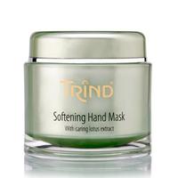 Trind Softening Hand Mask Питательно-смягчающая маска для рук 200 гСредства для ухода за волосами<br>Питательно - смягчающая маска для рук с экстрактом лотоса. Густая кремообразная маска для сухой, раздраженной и потрескавшейся кожи рук. Очищает, успокаивает, питает, смягчает, наполняет энергией и обеспечивает экстремально мягкую и бархатную кожу рук.Благодаря пантенолу, аллантоину, маслу ореха макадамия, маска приносит мгновенное облегчение, смягчает и заживляет поврежденную кожу. Применение маски позволяет улучшить структуру кожи, замедлить процессы старения, устранить сухость и раздражение.Рекомендации по использованию:нанести маску на наружную сторону теплых рук,распределить равномерно по всей поверхности,держать 5 минут,удалить с помощью салфетки,сполоснуть руки холодной водой,закончить процедуру нанесением крема Trind Hand Repair.Объём:200 г<br>